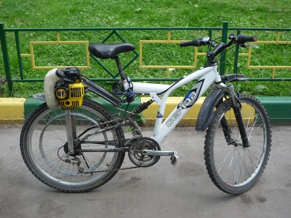 Сделать мопед из велосипеда в домашних условиях 192